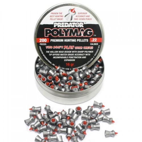 Пули для пневматики Predator Polymag 5,5мм 1,037г (200шт)