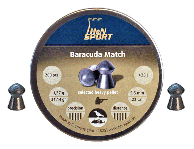 Пули для пневматики H&N Baracuda Match 5,52мм 1,37гр. (200 шт)