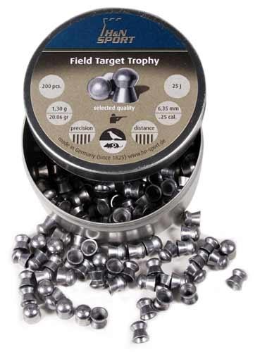 Пули для пневматики H&N Field Target Trophy 6,35мм 1,3г (200 шт)