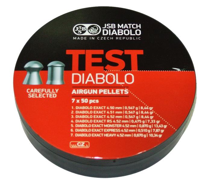 Пули для пневматики Test Diabolo (7 видов, 350шт)