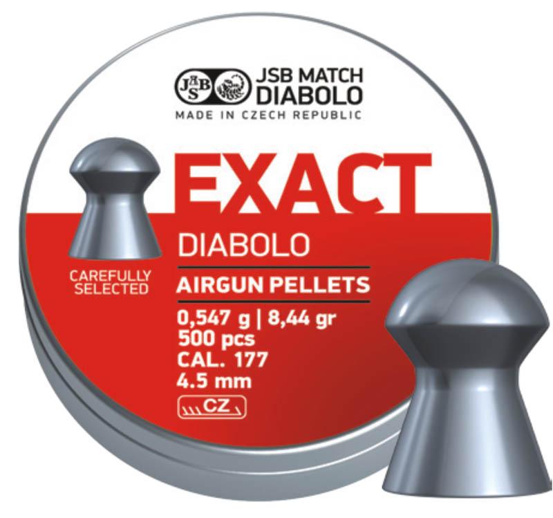Пули для пневматики Exact Diabolo 4,5мм 0,547гр. (500шт)