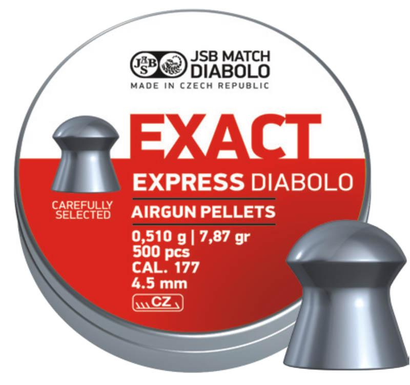 Пули для пневматики Exact Express Diabolo 4,5мм 0,51гр. (500шт)