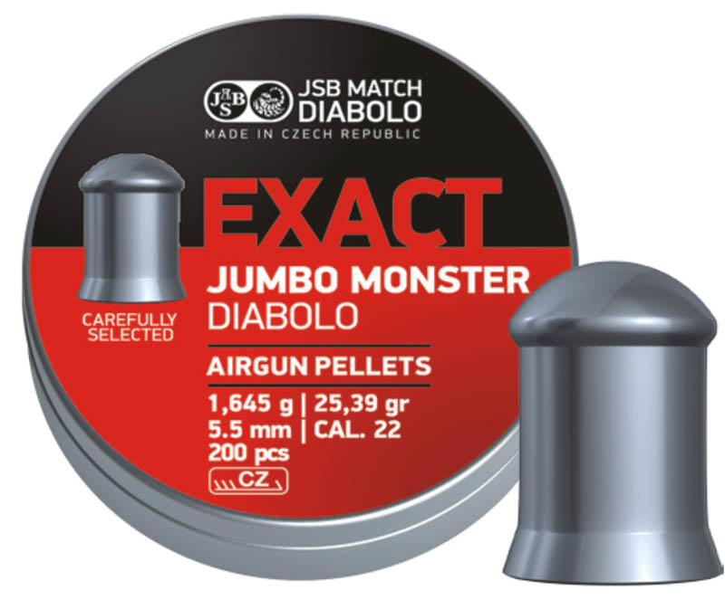 Пули для пневматики Exact Jumbo Monster Diabolo 5,52мм 1,645г (200шт)