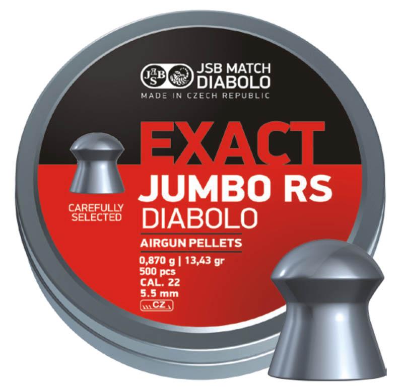 Пули для пневматики JSB Exact Jumbo RS 5,52мм 0,87г (500шт)