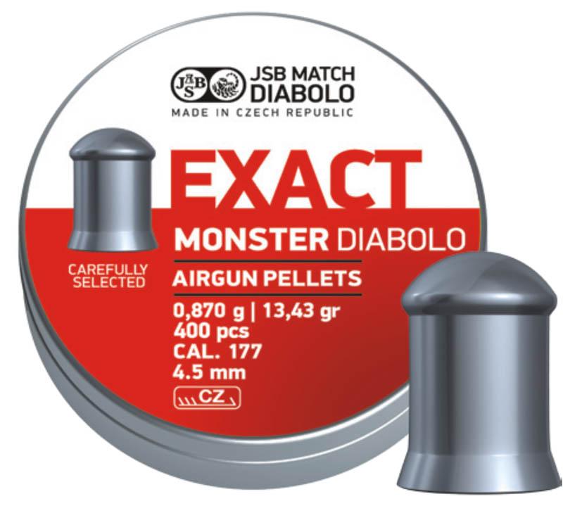 Пули для пневматики Exact Monster Diabolo 4,5мм 0,87гр. (400шт)