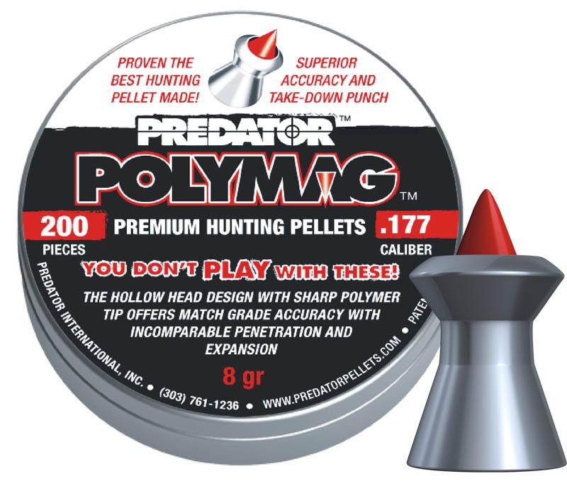 Пули для пневматики Predator Polymag 4,5мм 0,52г (200шт)
