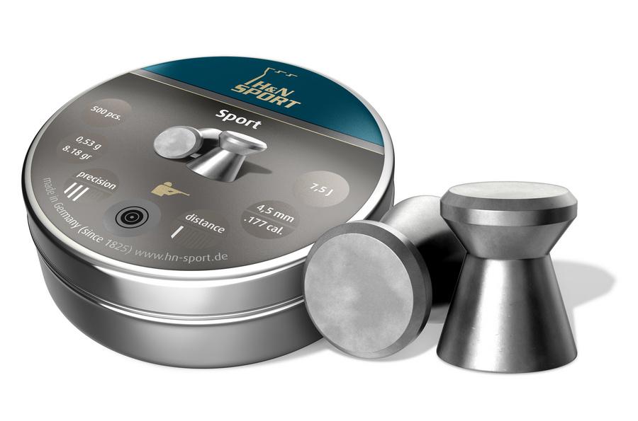 Пули для пневматики H&N Sport 4,5мм 0,53гр. (500 шт)