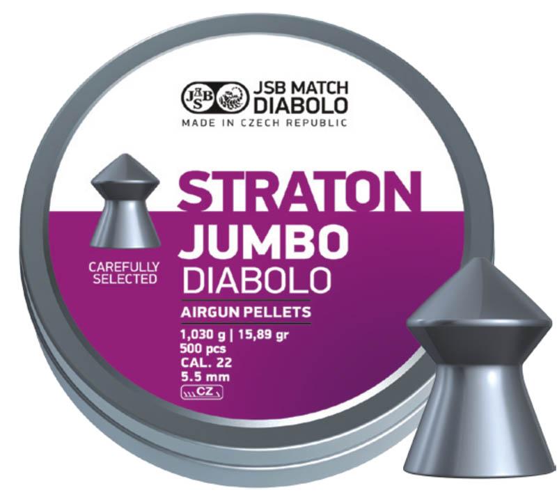 Пули для пневматики Straton Jumbo Diabolo 5,5 мм 1,03г (500 шт)