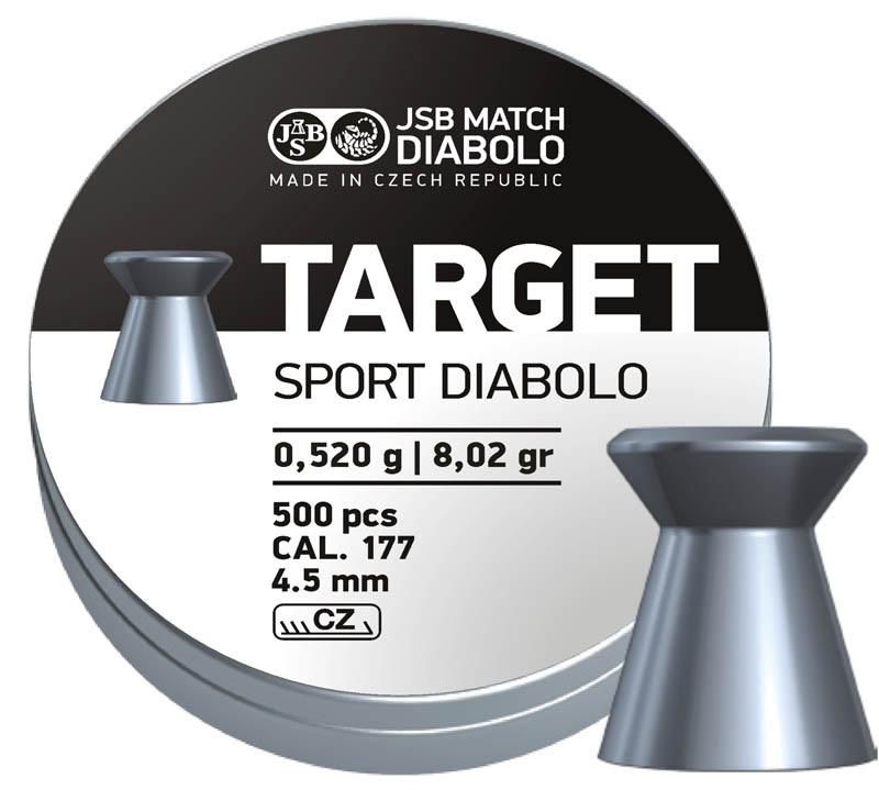 Пули для пневматики Target Sport Diabolo 4,5мм 0,52гр. (500шт)