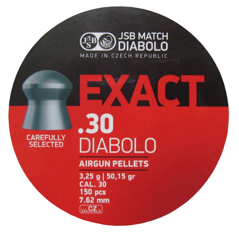 Пули для пневматики JSB Exact Diabolo 7,62мм 3,25г (150шт)