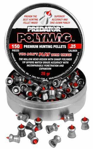 Пули JSB Polymag 1,645 грамм. 6,35 мм (150шт)