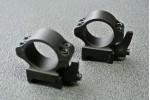 Кольца 25,4мм на вивер флажковые стальные быстросъемные высокие