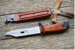 Штык-нож ММГ ШНС-001 АК 6x4 для АКМ и АК-74 (темно-коричневый)