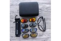 Очки тактические защитные Daisy C5 с поляризацией, 4 пары линз, в кейсе