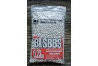 Шарики для страйкбола BLS 0,23 (1кг/уп, белые)