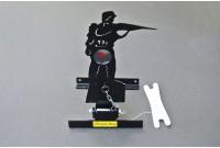 Мишень для пневматики подъемная металл. Ф-6