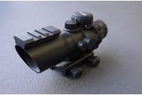 Прицел призматический, оптический комплекс SNIPER 4x32 SB с подсветкой