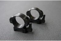 Кольца 30мм на вивер флажковые стальные быстросъемные средние