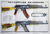 "Плакат ""Устройство автоматов АК, АКМ, АКМС"", Москва 1980г"