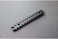 Планка Weaver на Zastava M70, 13 слотов, общая длина 142 мм., расстояние между винтами 22 и 12,9 мм., черный, 118 гр.