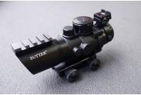 Прицел призматический, оптический комплекс SUTTER 4x32 с подсветкой