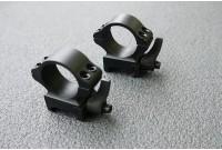 Кольца 25,4мм на вивер флажковые стальные быстросъемные низкие