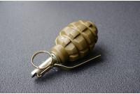 Макет гранаты Ф-1 зеленая, сталь
