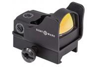Коллиматор Sightmark Mini - панорамный на Weaver/Picatinny, защитн. экран + выс. крон., марка - точка, красн. 5 ур.ярк.