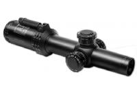 Прицел Bushnell AR Optics 1-4x24, 30мм., сетка BTR, c подсв. 11ур., красн., FFP, рычаг PCL, клик=0,1MIL., черный, 525гр.