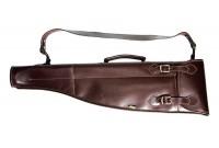 РужейныйЧехол  VEKTOR K-54 из натуральной кожи для любого двуствольного ружья в разобранном виде